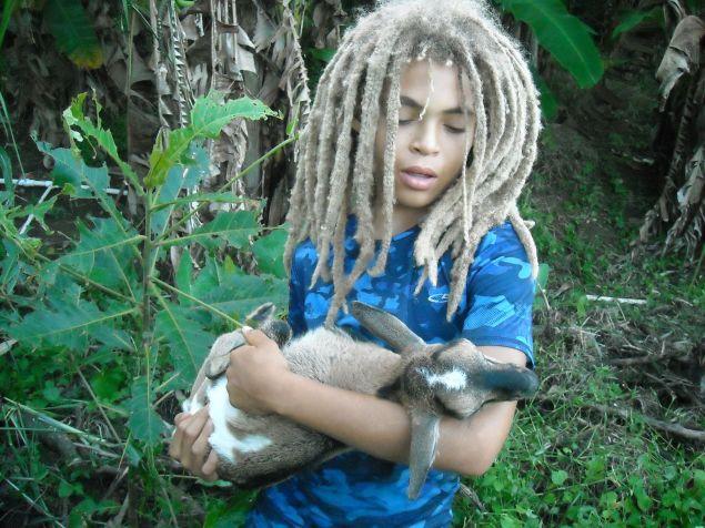 Melchizedek loves his pet goat.