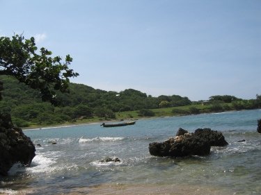 A fisherman's boat - a view from the beach