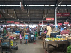 Coronation Market in downtown Kingston
