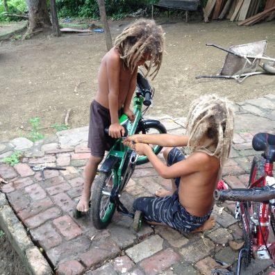 Fixing bicycles, endlessly