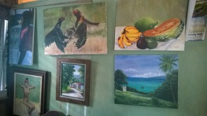 Visiting a painter in Robins Bay