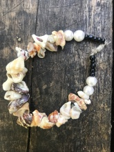 A shell bracelet made by a neighbor